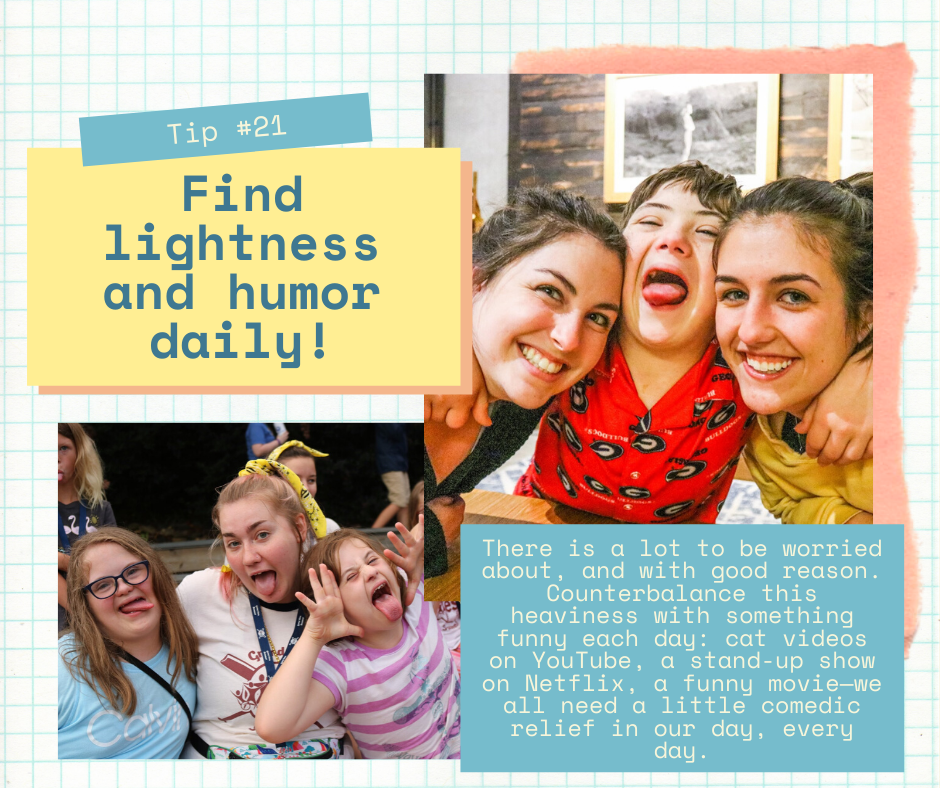 Mind Over Madness: Tip #21 Find lightness and humor daily