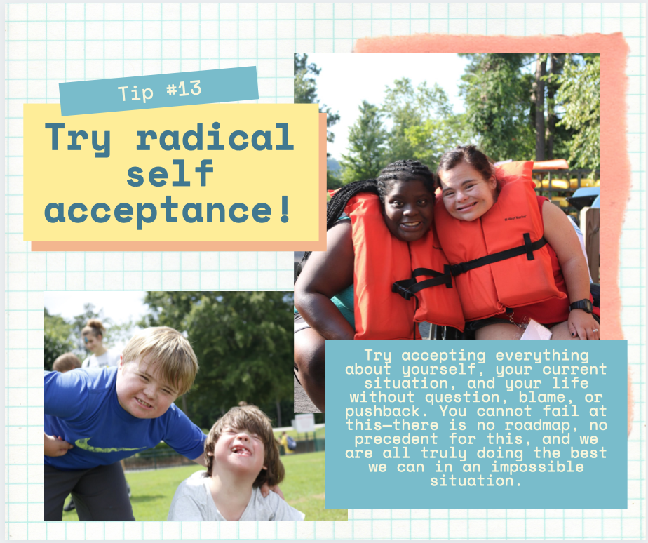 Quarentip: Try radical self acceptance!