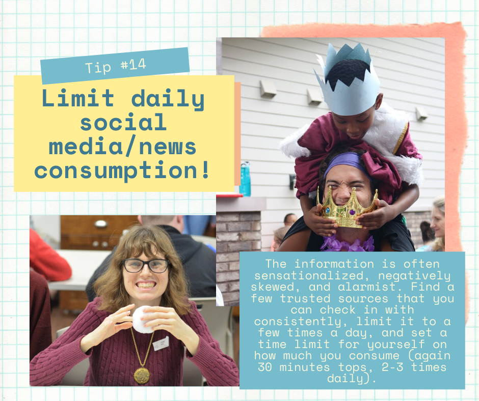 Mind Over Madness Tip #14: Limit daily social media/news consumption